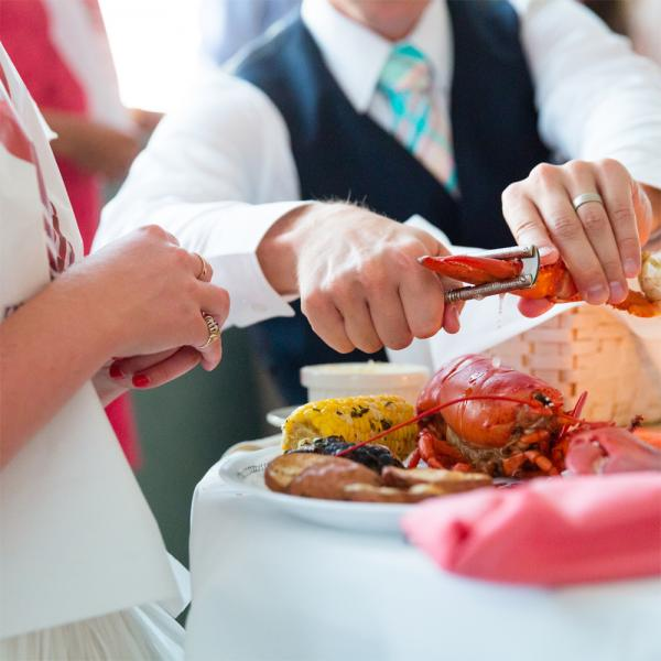 Wedding Lobster Bake.  Carrie Pellerin Photography.