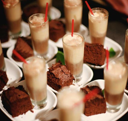 Milkshake Brownie Shots.